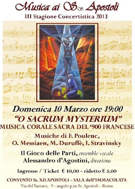 """O SACRUM MYSTERIUM"""" - Musica Corale sacra del '900 Francese"""