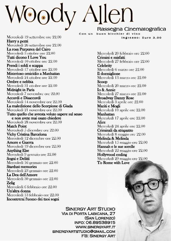 "Rassegna cinematografica ""Woody Allen Story"""